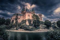 Castello di Bojnice - Repubblica Slovacca fotografia stock libera da diritti