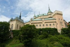 Castello di Bojnice, Slovacchia Immagini Stock Libere da Diritti