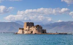 Castello di Bourtzi, Nafplio, Grecia Fotografia Stock Libera da Diritti