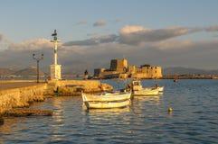 Castello di Bourtzi, Nauplia, Grecia Fotografia Stock Libera da Diritti
