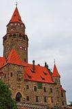 Castello di Bouzov fotografie stock libere da diritti