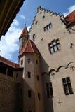 Castello di Bouzov, repubblica ceca Fotografia Stock Libera da Diritti