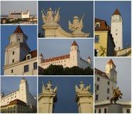 Castello di Bratislava, collage Fotografia Stock Libera da Diritti