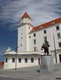 Castello di Bratislava - iarda di vecchio castello nella capitale della Slovacchia Immagine Stock Libera da Diritti