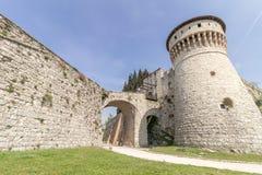 Castello di Brescia fotografia stock libera da diritti
