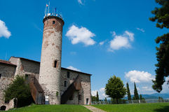 Castello di Brescia. Medieval castle of Brescia, historical building Royalty Free Stock Photos