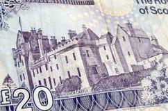 Castello di Brodick sulla banconota Fotografia Stock Libera da Diritti