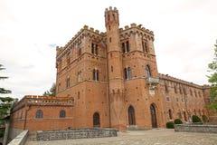 The Castello di Brolio, Gaiole in Chianti, Tuscany, Italy. The main building in the Castello di Brolio in Gaiole in Chianti, Tuscany, Italy. It is a rural castle Stock Images