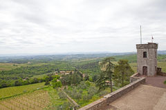 The Castello di Brolio, Gaiole in Chianti, Tuscany, Italy Stock Images