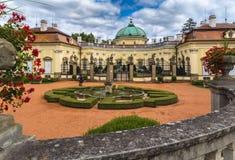 Castello di Buchlovice in Moravia Immagini Stock Libere da Diritti
