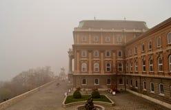 Castello di Budapest nell'inverno Immagini Stock Libere da Diritti