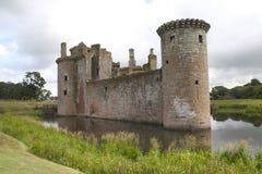 Castello di Caerlaverock Fotografia Stock Libera da Diritti