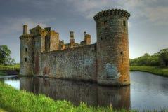 Castello di Caeverlock Fotografia Stock Libera da Diritti