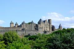 Castello di Carcassona in Francia del sud Immagini Stock Libere da Diritti