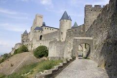 Castello di Carcassonne - Frnce immagine stock