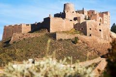 Castello di Cardona il giorno di inverno Fotografia Stock Libera da Diritti