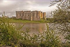 Castello di Carew con la crescita Fotografie Stock