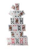 Castello di carte Immagine Stock