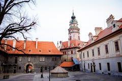 Castello di Cesky Krumlov Immagini Stock Libere da Diritti