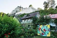 Castello di Cesky Sternberk, repubblica Ceca, destinazione di viaggio Fotografia Stock Libera da Diritti