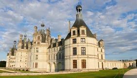 Castello di Chambord sul fiume di Loire Fotografia Stock Libera da Diritti