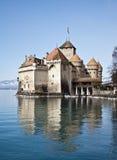 Castello di Chillon, lago geneva, Svizzera Fotografie Stock Libere da Diritti