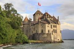 Castello di Chillon sul lago Ginevra Fotografia Stock Libera da Diritti