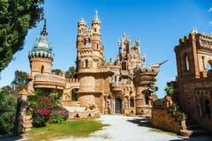 Castello di Colomares in Benalmadena, dedicato di Christopher Columbus, la Spagna immagine stock libera da diritti