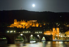 Castello di colore rosso di Heidelberg Fotografia Stock