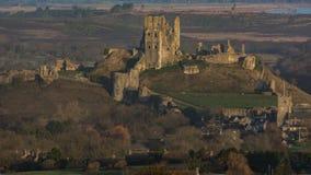 Castello di Corfe, Dorset, UK1 Fotografie Stock Libere da Diritti