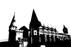 Castello di Corvin, anche conosciuto come il castello di Hunyadi royalty illustrazione gratis