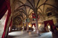 Castello di Corvin Huniazilor da Hunedoara, Romania fotografie stock libere da diritti