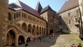 Castello di Corvin in Romania fotografia stock