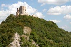 Castello di Csesznek immagini stock libere da diritti