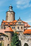 Castello di Czocha, castello difensivo nel villaggio di Czocha, Polonia fotografia stock