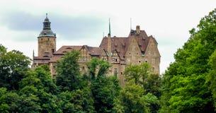 Castello di Czocha situato in Sucha in Polonia Fotografia Stock Libera da Diritti