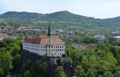 Castello di Decin, repubblica Ceca Immagine Stock Libera da Diritti