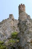 Castello di Devin vicino a Bratislava. La Slovacchia Fotografia Stock Libera da Diritti