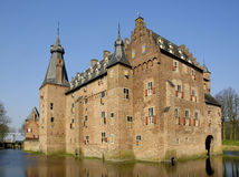 Castello di Doorwerth Fotografie Stock Libere da Diritti