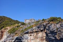 Castello di Doria (1161) in Portovenere (Unesco cita), Italia Fotografie Stock Libere da Diritti