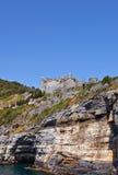 Castello di Doria (1161) in Portovenere (Unesco cita), Italia Immagini Stock Libere da Diritti