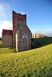 Castello di Dover e chiesa del Saxon Fotografie Stock