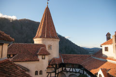 Castello di Dracula in Romania Fotografie Stock Libere da Diritti