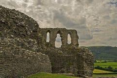 Castello 10 di Dryslwyn Fotografia Stock Libera da Diritti