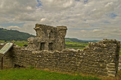 Castello 11 di Dryslwyn Fotografia Stock Libera da Diritti