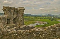 Castello 12 di Dryslwyn Fotografia Stock Libera da Diritti