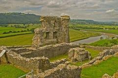 Castello 14 di Dryslwyn Immagini Stock