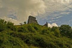 Castello 5 di Dryslwyn Fotografia Stock Libera da Diritti