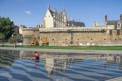 Castello di duchi di Bretagna, Nantes, Francia immagine stock libera da diritti