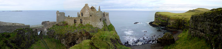 Castello di Dunluce fotografia stock libera da diritti